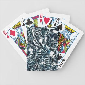 Energetic abstract palm leafs pattern poker deck