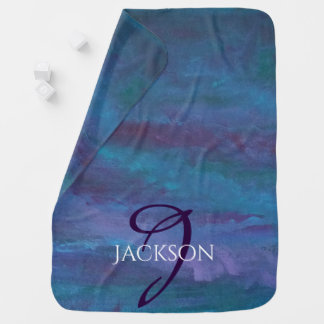 Energetic Baby | Custom Blue Purple Teal Ombre Baby Blanket