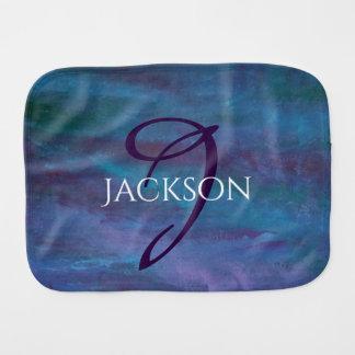 Energetic Baby | Custom Blue Purple Teal Ombre Burp Cloth