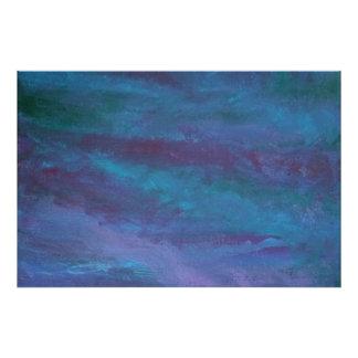 Energetic Blue Purple Teal Texas Storm Rain Cloud Art Photo
