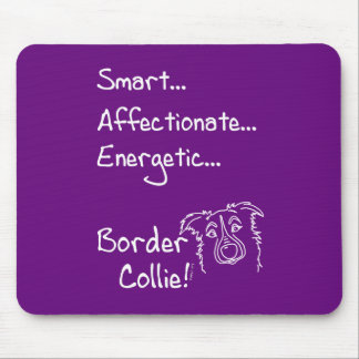 Energetic border collie mouse pad