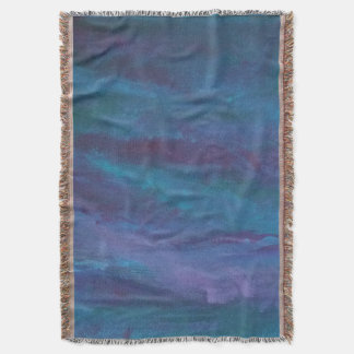 Energetic Decor | Dark Blue Purple Teal Turquoise Throw Blanket