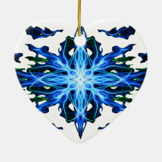 Energetic Geometry- Water Element - abstract Ceramic Heart Decoration