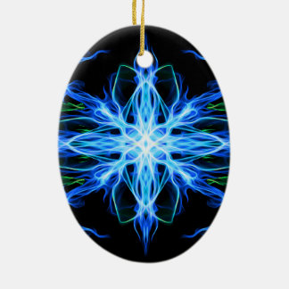 Energetic Geometry- Water Element - abstract Ceramic Oval Decoration