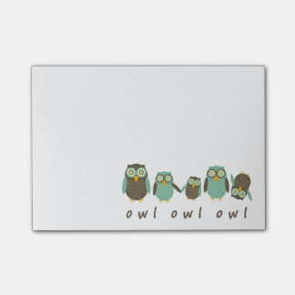 Energetic Owls Post-it Notes
