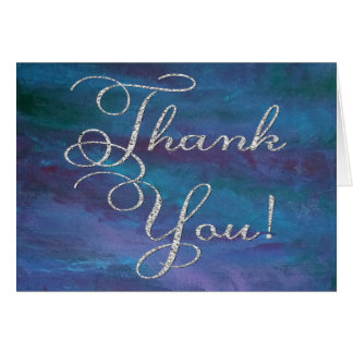 Energetic Thank You | Modern Dark Blue Purple Teal Card
