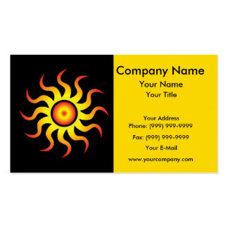 Energetic tribal sun pack of standard business cards