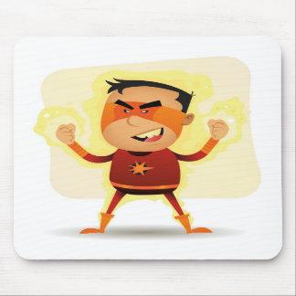 Energy Boy - Cartoon Superhero Superpower Mousepads