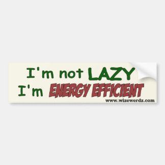 Energy Efficient bumper sticker