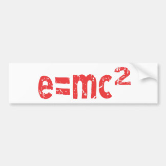 energy equation of  physics bumper sticker