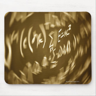 Energy equation on a chalkboard mouse pad