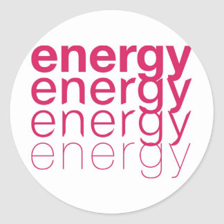 Energy Fade Pink Round Sticker