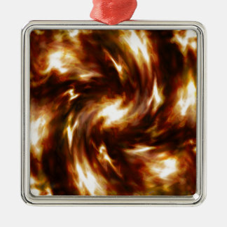 Energy Flow   Abstract 6 Silver-Colored Square Decoration