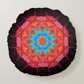 Energy Flower Mandala Round Cushion