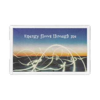 Energy Flows Through Me Acrylic Tray
