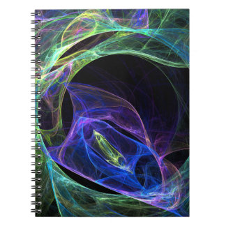 Energy Fractal Spiral Notebook