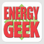 Energy Geek v2 Square Stickers