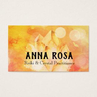 *~* Energy Healer Reiki Crystal Yoga Reiki Master Business Card