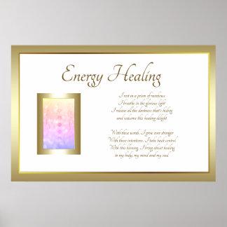 Energy Healing Poem Art design Poster