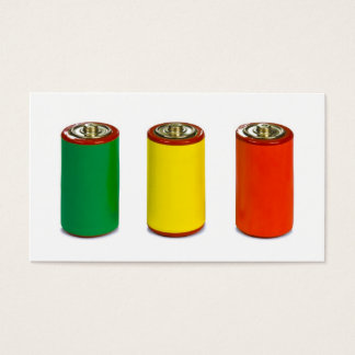 energy management concept - green, red and yellow