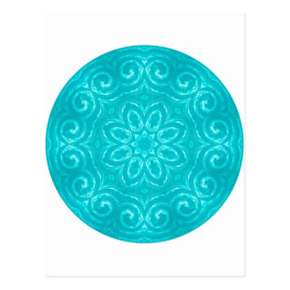 Energy Mandala - Aqua Post Card