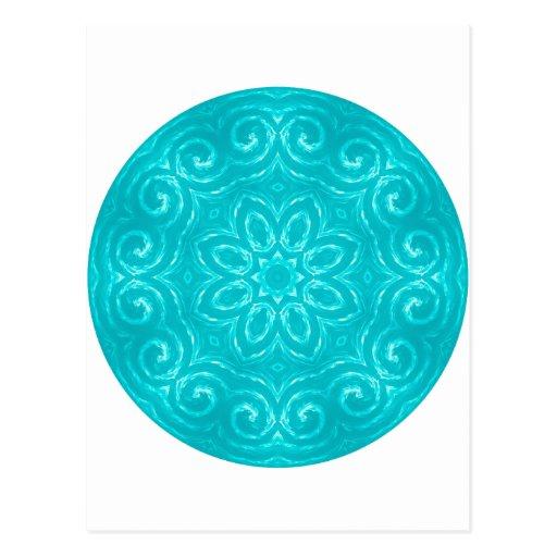 Energy Mandala - Aqua Post Card