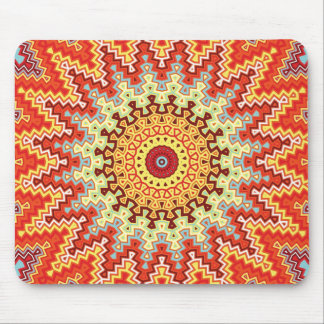 Energy Mandala Colorful Kaleidoscope Design Mouse Pads