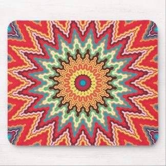 Energy Mandala Colorful Kaleidoscope Design Mouse Pad