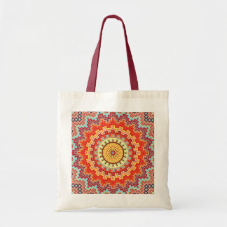 Energy Mandala Colorful Kaleidoscope Design Tote Bag