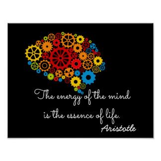 Energy of the Mind - Aristotle quote _ Art print