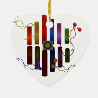 Energy of the sound ceramic heart decoration
