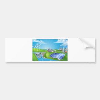 energy; power; dam; hydro; plant; renewable; solar bumper sticker