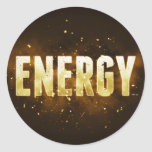 Energy Round Stickers