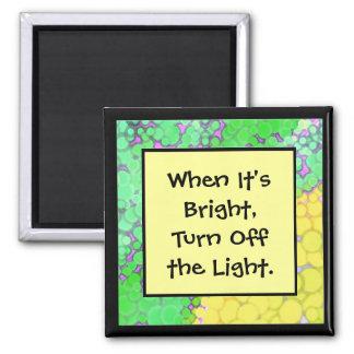 energy saving message magnet