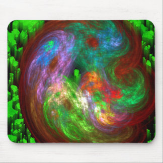 Energy Vortex Green Posts Mouse Pad