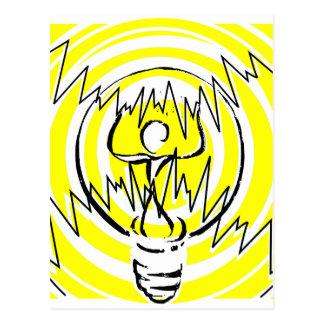 energy yellow postcard
