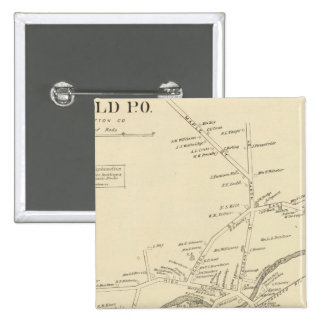 Enfield PO, Grafton Co 15 Cm Square Badge