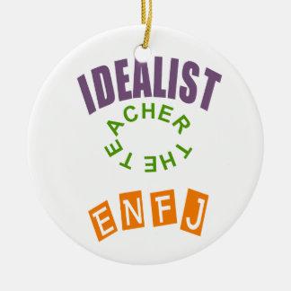 ENFJ Idealist Personality Ceramic Ornament