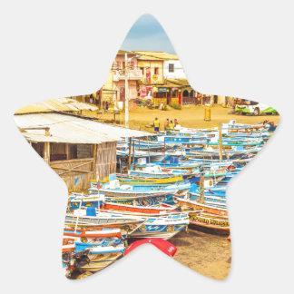 Engabao Beach at Guayas District Ecuador Star Sticker