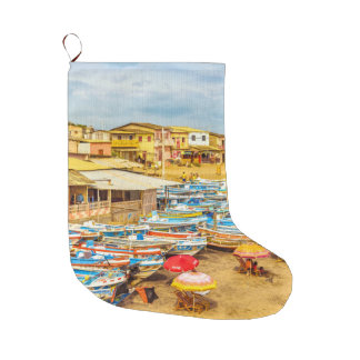 Engabao Beach Guayas Province Ecuador Large Christmas Stocking