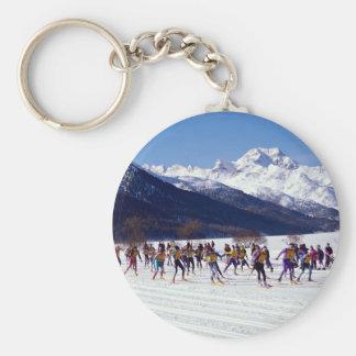 Engadin ski marathon, Silvaplana, Switzerland Wint Keychains