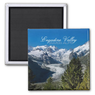 Engadine Valley Photo Swiss Alps Souvenir Magnets