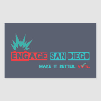 Engage San Diego sticker2 Rectangular Sticker