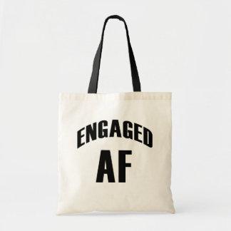 Engaged AF funny tote bag