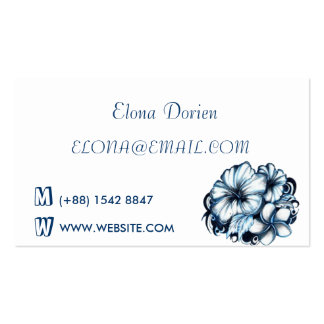 Engaged Blue & white business card