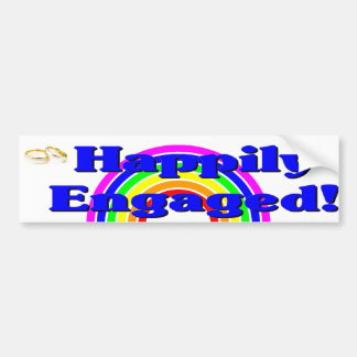 Engaged Car Bumper Sticker
