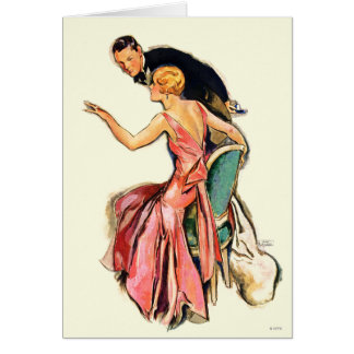 Engaged Couple Card