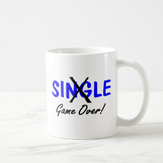 Engaged Game Over Blue Mugs