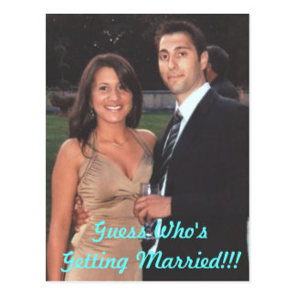 engaged, Guess Who's Getting Married!!! Postcard