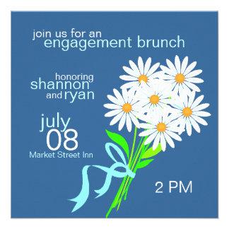 Engagement Brunch Invitations Blue
